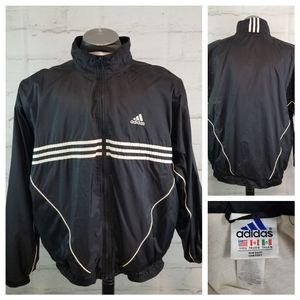 Vintage Adidas L Zip-Up Nylon Windbreaker Jacket